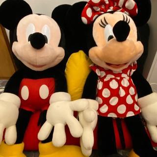 Disney - ディズニーランド ミッキー ミニー 特大全長100cm ぬいぐるみ ペアセット