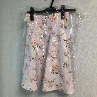 イング(INGNI)のイング♪ハイウエスト花柄フレアミニスカート♪M新品未使用!春(ミニスカート)