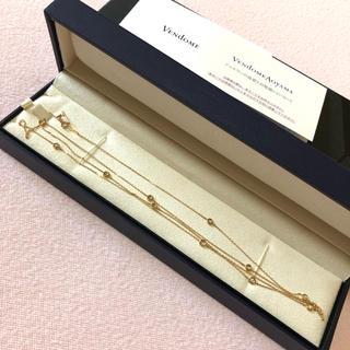 Vendome Aoyama - 美品 ヴァンドーム青山 ロングネックレス K18 イエローゴールド ダイヤ