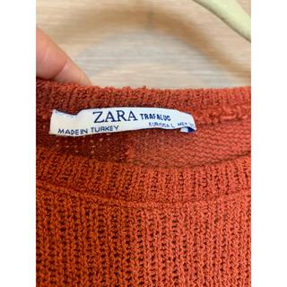 ZARA - 美品ZARA ニットテラコッタ ワンピース