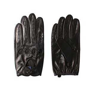 ブラック(スマホ対応のない)LNAPPAGLO メンズ 男性用 ショート 本革 (手袋)