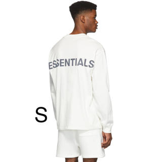FEAR OF GOD - S Essentials Logo Long Sleeve T-Shirt