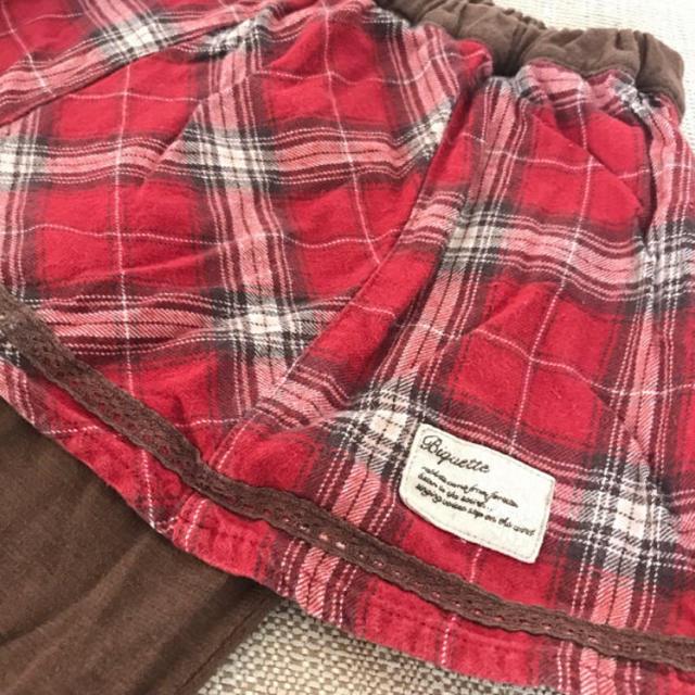Biquette(ビケット)のSALE!美品♡ビケット チェック柄スカッツ 95 キッズ/ベビー/マタニティのキッズ服女の子用(90cm~)(パンツ/スパッツ)の商品写真