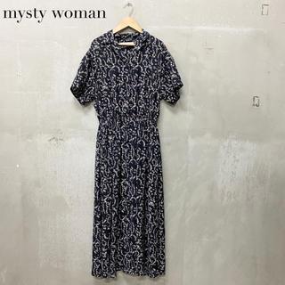mysty woman - 【mysty woman】ロングワンピース ブラック ミスティーウーマン