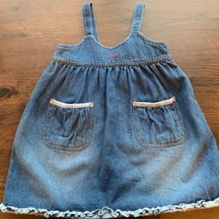 ラルフローレン(Ralph Lauren)の新品未使用美品子供服 ラルフローレン  デニム ジャンパースカート ワンピース(ワンピース)