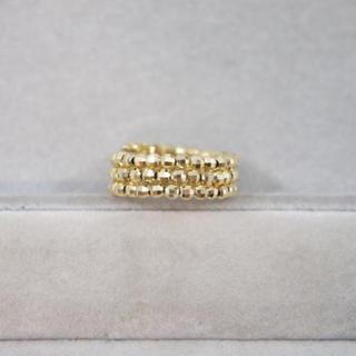 ミラーボール 形状記憶 リング K18YG イエローゴールド フリーサイズ(リング(指輪))