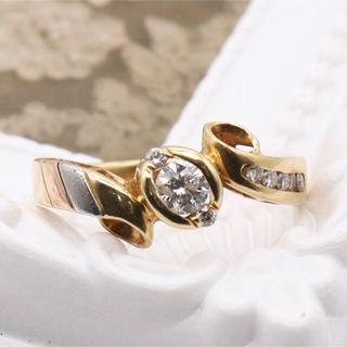 大きめなダイヤモンドのリング 0.5カラット k18とプラチナ900(リング(指輪))