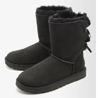 UGG - UGG ブーツ ブラック リボン