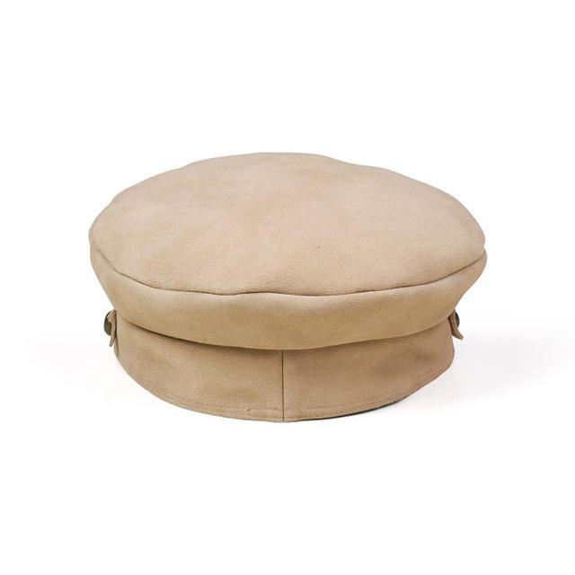 ALEXIA STAM(アリシアスタン)のラックオブカラー キャスケット 帽子 ベージュ S レディースの帽子(キャスケット)の商品写真