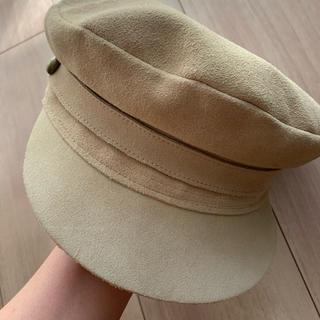 アリシアスタン(ALEXIA STAM)のラックオブカラー キャスケット 帽子 ベージュ S(キャスケット)