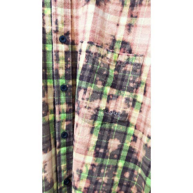 X-girl(エックスガール)のX-girl チェックブリーチシャツ レディースのトップス(シャツ/ブラウス(長袖/七分))の商品写真