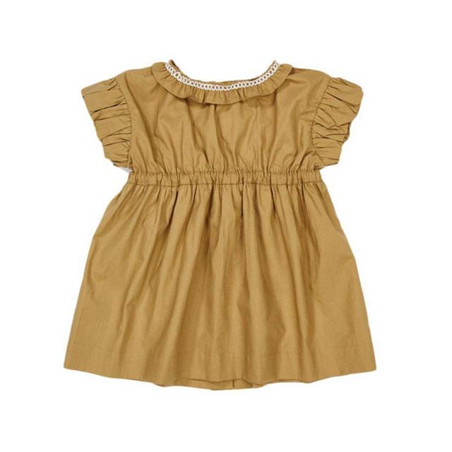 Caramel baby&child (キャラメルベビー&チャイルド)の専用 caramel baby&child 19SSワンピース olive 2y キッズ/ベビー/マタニティのキッズ服女の子用(90cm~)(ワンピース)の商品写真