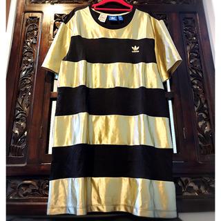 アディダス(adidas)のアディダス オリジナルス ゴールド Tシャツ タンクトップ ジャージ M L(Tシャツ(半袖/袖なし))