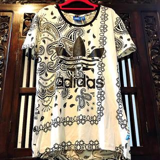 adidas - アディダス オリジナルス 白 ペイズリー Tシャツ ジャージ トレーナー M