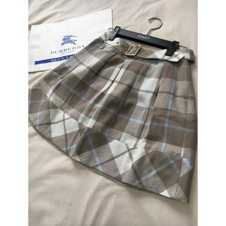バーバリーブルーレーベル(BURBERRY BLUE LABEL)のバーバリー ブルーレーベル チェック スカート(ミニスカート)