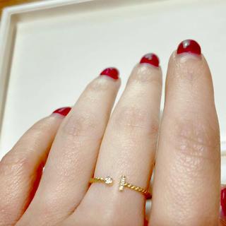 ダイヤモンドリングK18(リング(指輪))