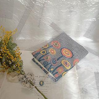 リピ割【専用】pathグレー♡文庫本サイズ♡ブックカバー♡全面path(ブックカバー)