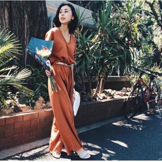 アメリヴィンテージ(Ameri VINTAGE)の美品♡ameri vintage オールインワン オレンジ(オールインワン)