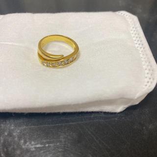 18金 ダイヤモンド リング ピンキーリング 美品(リング(指輪))