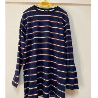 スタイルナンダ(STYLENANDA)のボーダーロングTシャツ(Tシャツ/カットソー(七分/長袖))
