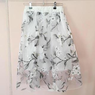 fifth - チュール花柄スカート