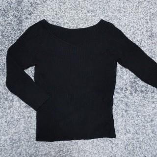 JUSGLITTY - ジャスグリッティー💙七分丈ニット【サイズ2】黒