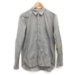 コムデギャルソン(COMME des GARCONS)のコムデギャルソン 袖 切替 チェック シャツ カーキ × ホワイト M 茶(シャツ)