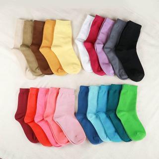 レディース サイズ22~25 綿靴下 20足セット 普通丈(ばら売り可)  (ソックス)