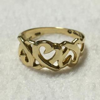 ティファニー(Tiffany & Co.)のTIFFANY&CO K18 トリプルラビングハート リング(リング(指輪))