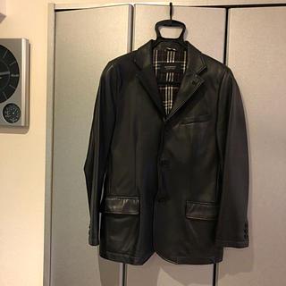 BURBERRY BLACK LABEL - Burberry Black label 羊革 ジャケット 美品