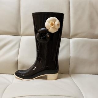 シャネル(CHANEL)のお値下げ/CHANEL カメリアレインブーツ35size美品(レインブーツ/長靴)