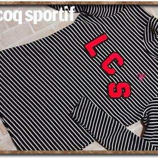 le coq sportif - ルコック 刺繍&アップリケ付きボーダーカットソー 黒×白