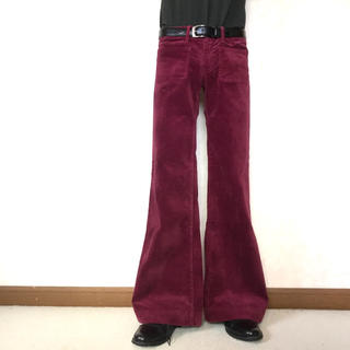 velvet flare trousers