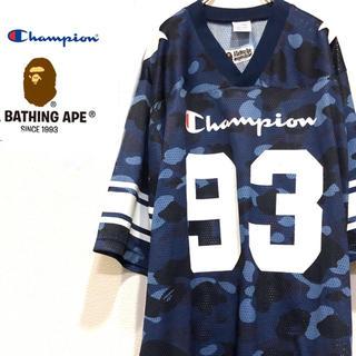A BATHING APE - 激レア A BATHING APE ×Championコラボ  Tシャツ