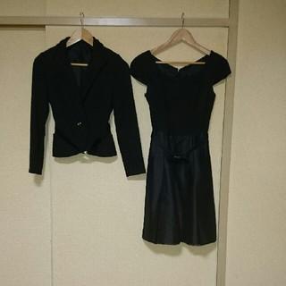 アールユー(RU)のRU ブラックフォーマルワンピースジャケット(礼服/喪服)