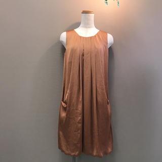 BEAMS - LAPIS LUCE BEAMS 裾バルーンワンピースドレス
