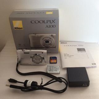 Nikon - 美品 Nikon COOLPIX A100 デジカメ シルバー