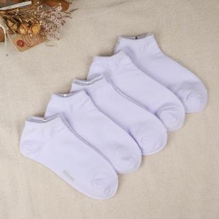 レディース サイズ22~25 白靴下 5足セット スニーカー丈(ソックス)