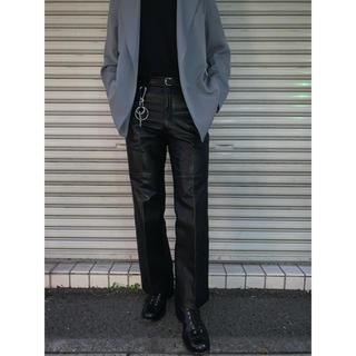 JOHN LAWRENCE SULLIVAN - vintage  black leather pants レザーパンツ