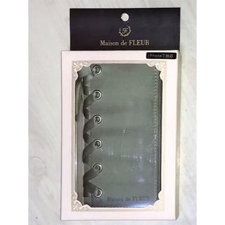 メゾンドフルール(Maison de FLEUR)のMaison de FLEUR iPhone7   スマホケース リボン手帳型(iPhoneケース)