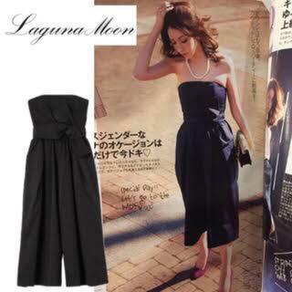 ラグナムーン(LagunaMoon)のラグナムーン ドレス ネイビー(ミディアムドレス)