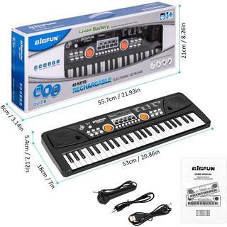 電子キーボード 49鍵盤 多機能 高音質 充電式 楽器キーボード CPC認証 ¥(キーボード/シンセサイザー)
