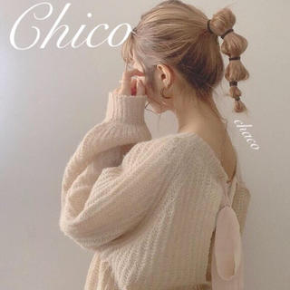 who's who Chico - AW新作🌹¥6490【Chico】バックリボンモテニット 春ニット