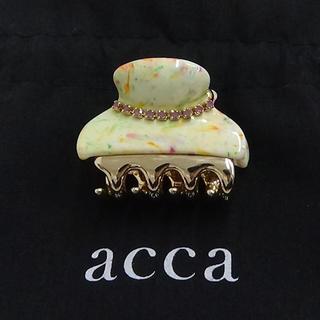 アッカ(acca)のacca マーブルのヘアクリップ  限定品です。(バレッタ/ヘアクリップ)