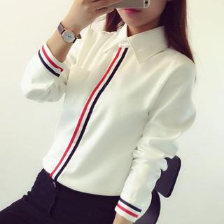 ZARA - トリコロールラインシャツ