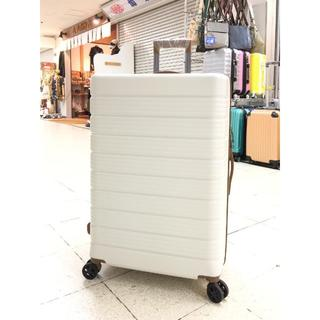 中型軽量スーツケース8輪キャスター TSAロック付き Mキャリーケース 白