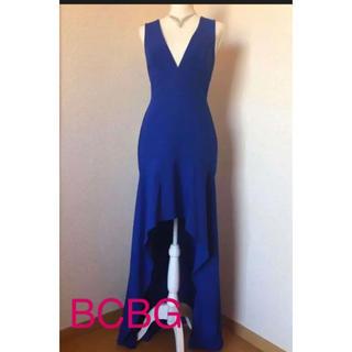 BCBGMAXAZRIA - BCBG ブルーロングドレス 青 4