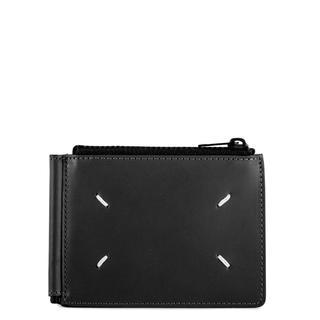 Maison Martin Margiela - 新品 国内完売メゾンマルジェラ レザー ブラック マネークリップ 二つ折り 財布