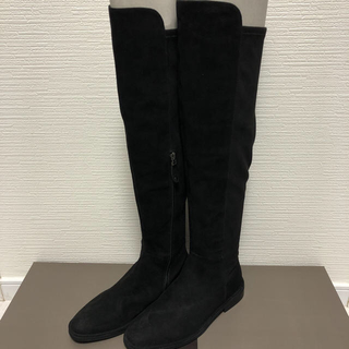 SCOT CLUB - ★定価33000円.新品未使用★山羊革 サイドジップ ロングブーツ(37)