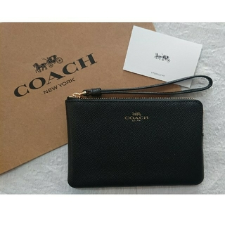 COACH - プレゼントに最適❗コーチポーチ  ブラック